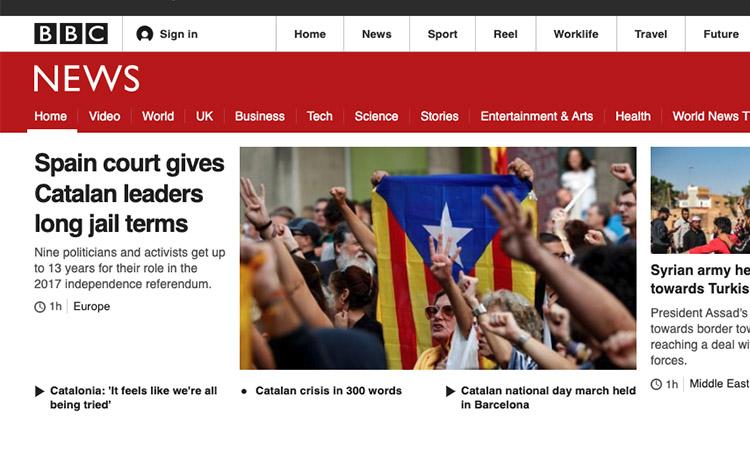 La premsa internacional també es fa ressò de la sentència del procés