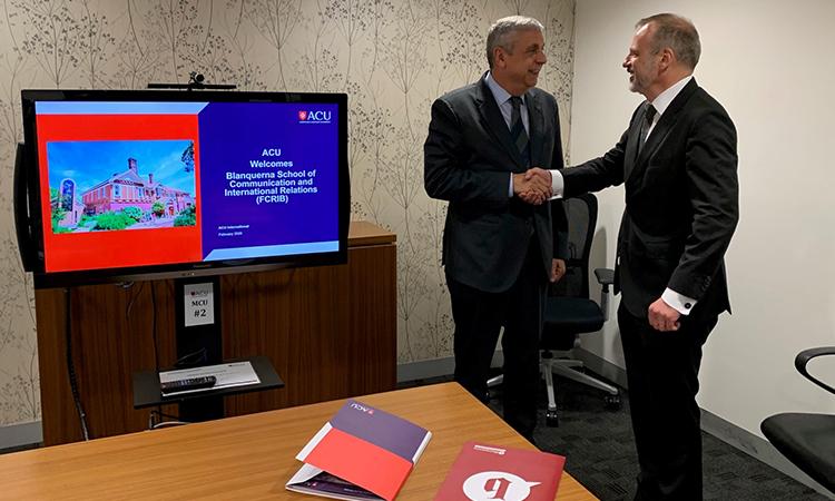 La Universitat Ramon Llull promou l'intercanvi amb universitats d'Austràlia i Nova Zelanda